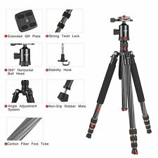 Zomei Z668c Carbon Fiber Tripod Portable Pro DSLR Monopod W/ball Head With Case