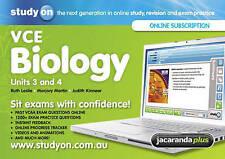 StudyOn VCE Biology Units 3&4 & Booklet by Judith Kinnear, Marjory Martin, Ruth