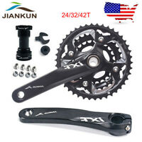 3X10S Triple Speed Crankset BB 42/32/24t MTB Bike Chainring 104/64BCD 170 Crank