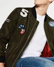 Men's Polyester Collared Bomber, Harrington Coats & Jackets