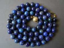 Lange lapis lazuli bala cadena con 585 oro dorado kugelverschluß 50,7g/60, 5cm