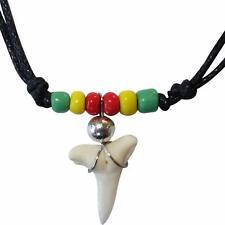 Shark Tooth Necklace Pendant Chain Mens Womens Boys Girls Ladies Childrens Rasta
