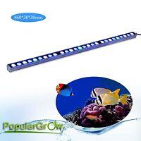 81W Blue White LED Aquarium Bar Light Strip IP65 Fish Tank Reef Coral grow light