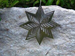 Edles Mini-Windspiel Stern klein aus Edelstahl - f. Innen u. aussen - Neu