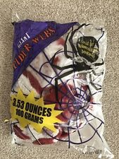 Halloween Giant Bloody Spiders Web 3.53 oz Great Party Dec Inside or Outside