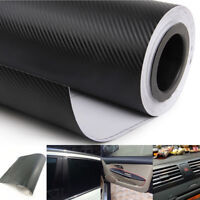 Car Accessories Interior Panel Carbon Fiber Vinyl Wrap 3D Black Sticker