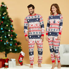 One Piece Christmas Matching Couples Pyjamas Women Men Cotton Xmas All in One UK