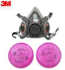 HALF Facepiece 6200 W/ 2091 FILTERS Reusable Respirator Medium Size Spraying