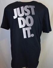 New Nike Just Do It Training Mens Xl Black T-Shirt athletic gym basketball