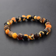 Fashion Men Lucky Multi Colour Beaded Cuff Charm Bangle Natural Stone Bracelets