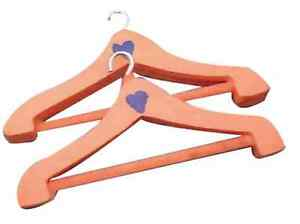 1/12TH SCALE DOLLS HOUSE PAIR OF WOODEN COAT HANGERS