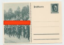 Germany REICH 1937 POSTCARD MILITARY PARADE ORIGINAL POST HISTORY