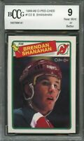 1988-89 o-pee-chee #122 BRENDAN SHANAHAN devils rookie (CENTERED) BGS BCCG 9