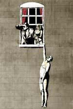 Banksy Art  Poster  Hanging man   A2 SIZE