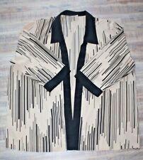 Damenjacke Style Mode XXXL 52 54 creme schwarz Kimono Oberteil Top Bluse A2AG
