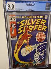 Silver Surfer #15 CGC 9.0  Silver Surfer vs Human Torch Cover
