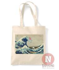 Great wave off Kanagawa Ponyo tote bag shopping 100% cotton Studio Ghibli