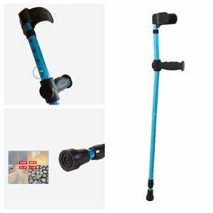 Adults Foldable Height Heavy Aluminum Alloy Duty Walking Forearm Crutch Stick