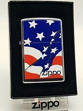Original Zippo Design - US Wavy Flag - 2006 -  Neu 21164