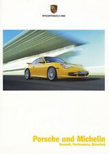 PORSCHE MICHELIN Reifen 911 996 993 964 930 Carrera GT Prospekt Brochure 2004 90