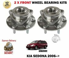 FOR KIA SEDONA 2.2 DT 2.7i 2.9TD CRDi 2006 >NEW 2 x FRONT WHEEL BEARING HUB KIT