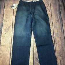 Polo Ralph Lauren American Dungarees Military Pant Mens 34x36 Blue Jean Vintage