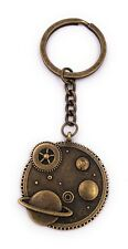 Planetensystem Schlüsselanhänger Anhänger Bronze aus Metall