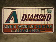 2 NEW Sealed 2001 World Series Champions License Plate Arizona Diamondbacks MLB