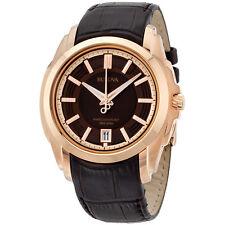 Bulova Precisionist Brown Dial Leather Strap Men's Watch 97B110