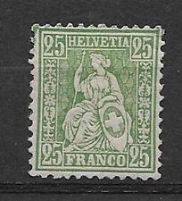 SWITZERLAND , HELVETIA , SUISSE , 1867/78,  25c STAMP ,  PERF, USED