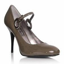 High (3 in. and Up) Leather Special Occasion Solid Heels for Women