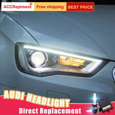 2Pcs For Audi A3 Headlights assembly Bi-xenon Lens Projector LED DRL 2015-2016