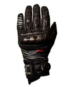 Knox Orsa V14 Leather Motorcycle Motorbike Gloves - Black