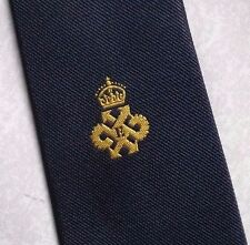 QUEEN'S AWARD EXPORT TIE VINTAGE RETRO NAVY CREST 1980s BY NEATWEAR OF LONDON