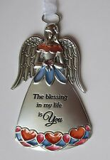 L the blessing in my life is you Stained glass Guardian Angel Ornament Ganz