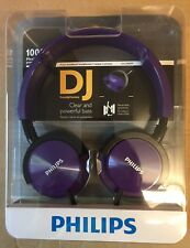 PHILIPS SHL3000PP ON-EAR DJ HEADPHONES - PURPLE BRAND NEW SEALED CLEARANCE SALE