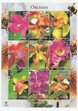 EXOTIC FLORA ORCHID FLOWER SOMALIA 2002 MNH STAMP SHEETLET