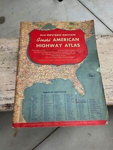 1957 LARGE GOUSHA United States, Mexico and Canada Highway Atlas Map