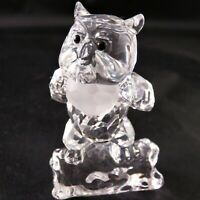 Swarovski Bambi Series - Owl with Crystal Title Plaque Retired in 2010