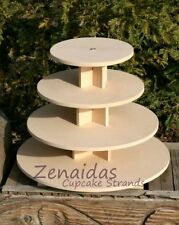 4 Tier MDF Cupcake Stand Donut Tower Cake Display Dessert Stand