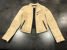 """Black rivet"" women camel tan leather jacket, size XS"