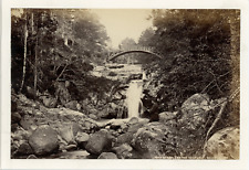 United kingdom, Braemar, lower falls of garrv alt (garbh allt) vintage albumen p