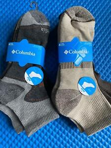 NWT Men's Columbia Multisport Quarter Crew Socks 4 Pack Large Various colors