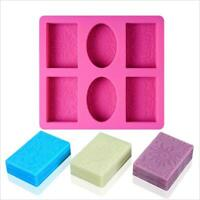 Handmade Silicone Soap Molds DIY Baking Biscuit Chocolate Mold Soap Making Suppl