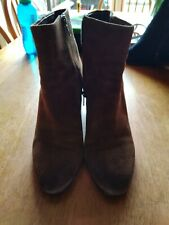 Ash Tan Brown Suede Ankle Boots. Size 39 Used