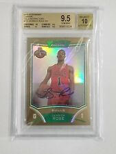 2008-09 BOWMAN CHROME GOLD REFRACTORS 9/25 DERRICK ROSE BGS 9.5 AUTO ROOKIE RC