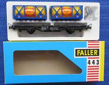 Faller Ams 443 Vagoni con Shell - Container Raro - Inutilizzati