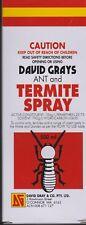 David Grays  TERMITE ANT COCKROACH Killer Spray 500ml PRO Permethrin - FREE P&H