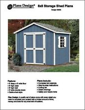 8' x 8' Classic Gable Storage Shed Project Plans - Design #20808