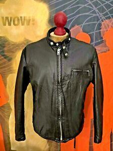 Superb Vintage  SCHOTT 141  Cafe Racer Motorcycle Leather Jacket . Size 44